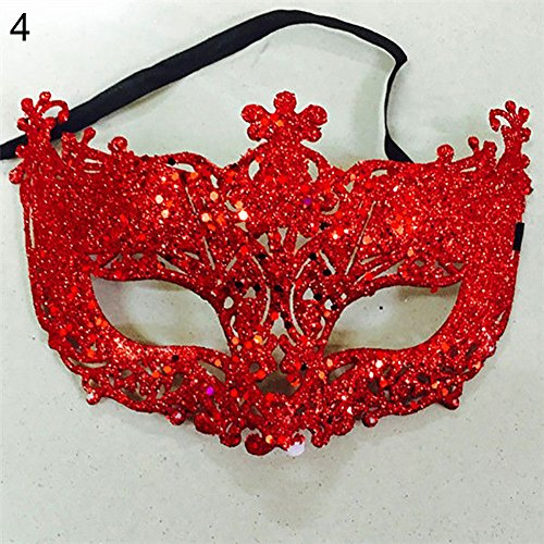 hefeibiaoduanjia Damen Fashion Cosplay Augenmaske Maskerade Karneval Fasching Karneval Fasching Weihnachten Party Frauen Mode Cosplay Augenmaske - Der Ninja Vampir Kostüm
