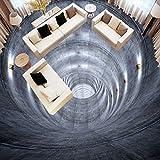 BZDHWWH Benutzerdefinierte Jede Größe 3D Extend Space Bodenaufkleber Moderne Einfache Wohnzimmer Lobby Korridor Vinyl Bodenbelag Wasserdichte Wandbild Tapete,300Cm X 400Cm