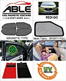 #5: Able Sporty Full Car Magnetic Sun Shade Curtains For DATSUN REDI-GO Set of 4