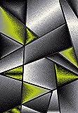 Tapiso Sumatra Teppich Kurzflor Konturenschnitt Modern Grau Grün Abstrakt Karo Viereck Muster Designer Wohnzimmer Jugendzimmer ÖKOTEX 160 x 220 cm