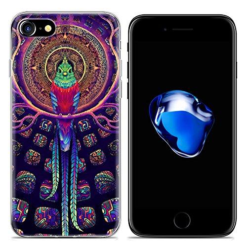 Easbuy Cartoon Tier Handy Hülle Soft Silikon Case Etui Tasche für iPhone 7 Smartphone Cover Handytasche Handyhülle Schutzhülle Mode 12