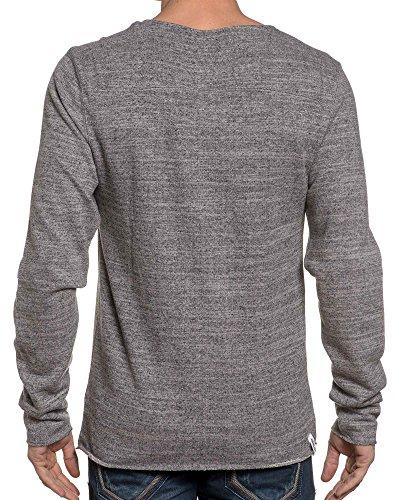 Deeluxe 74 - Pull homme gris poche poitrine Gris