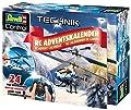 Revell Control 01020 RC Adventskalender Hubschrauber, ferngesteuerter RC Helikopter für Einsteiger zum Selberbauen, GHz Fernsteuerung, LED-Beleuchtung, USB-Ladegerät, Gyro, Batterien enthalten von Revell