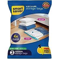 BIGOWL Smart Space Saver Vacuum Storage Compression Reusable Ziplock Bags (40x60 cm)- Pack of 3