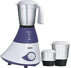 Inalsa Crown Dx 750-Watt Mixer Grinder with 3 Jars (Purple/White)