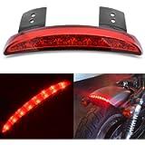 KATUR Red Chopped Fender Edge Motorcycle 8 LED RED Stop Running Brake Rear Tail Light for Harley Sportster XL 883N 1200N…