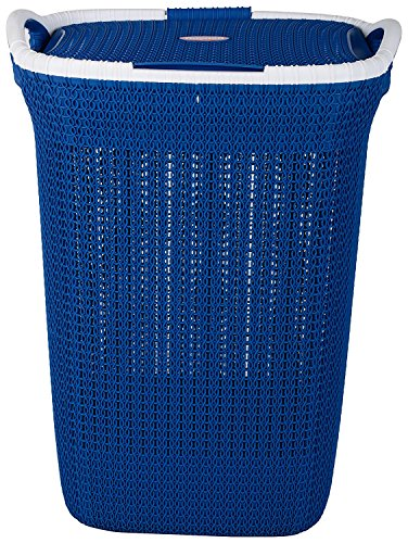 Nayasa Plastic Multipurpose Laundry Basket, Blue