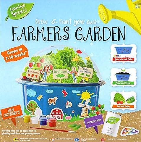 Grafix Grow & Paint Your Own Farmers Garden Kids Creative Craft Set