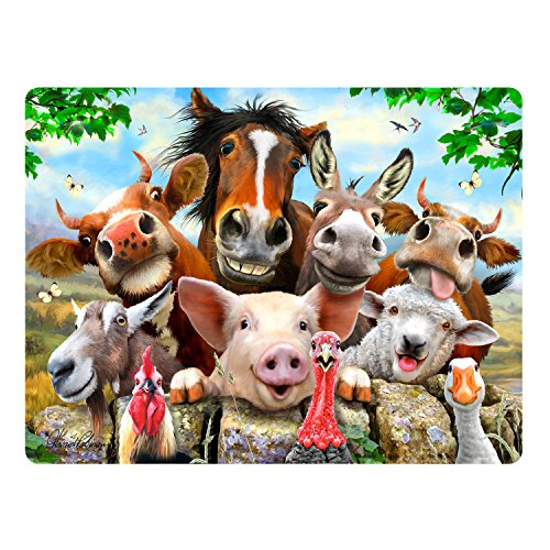 Howard Robinson Super 3D Bewegend Postkarte - Bauernhof Selfie -