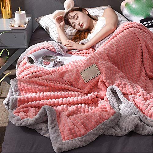 flanellbettlaken Flanellbettlaken und Beibei Decken-Luxury Flanell und Beibei Decken Super Soft Fluffy Warm Mikrofaser-Massivdecke 150x200cm,Wassermelone rot + grau