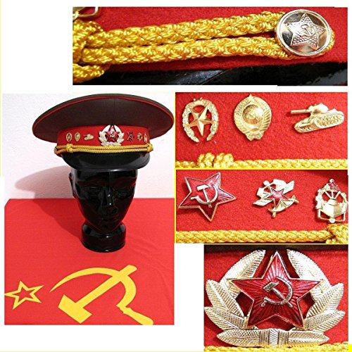 Schirmmütze Russland Offizier, Gr. 53 -60 Fasching Karnaval Putin Moskau