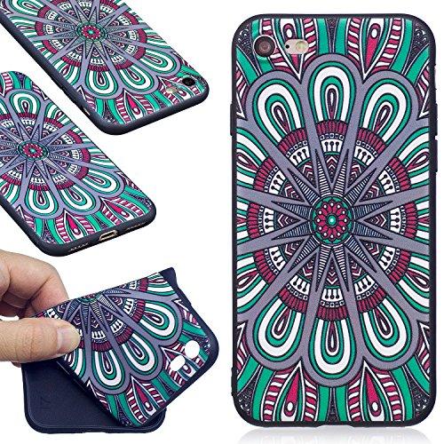 Nancen Apple iPhone 7 / 8 (4,7 Zoll) Weich TPU Silikon Case / Hülle / Handyhülle Backcover. Anti-Kratz und Anti-Staub. Panda Bambus Scheibe