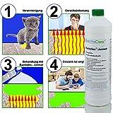 BactoDes Animal -1 Liter Geruchsentferner, Geruchskiller-Konzentrat zum Verdünnen (mind. 2L Gebrauchslösung) – inkl. Mischflasche – beseitigt Tieruringeruch, Katzenuringeruch, Tiergeruch, Katzenurin, Hundeurin, Kleintiergeruch, dauerhaft – ein echter Geruchsvernichter für die dauerhafte Geruchsbeseitigung - 3