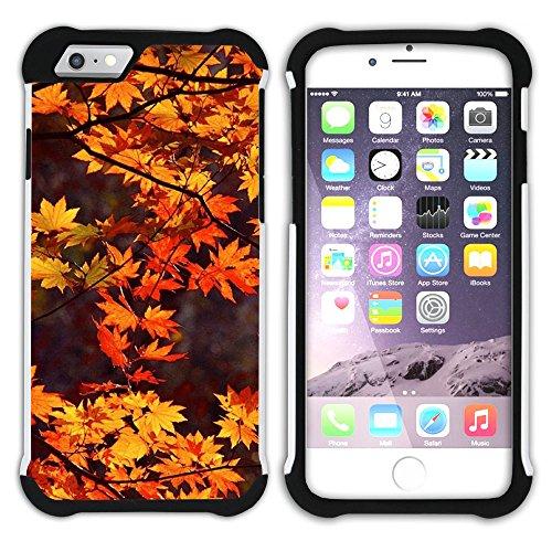 Graphic4You Herbst Leaves Bäume Postkarte Hart + Weiche Kratzfeste Hülle Case Schale Tasche Schutzhülle für Apple iPhone 6 Plus / 6S Plus Design #3