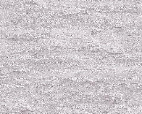 Schöner Wohnen Vliestapete Tapete in Felsen Optik 10,05 m x 0,53 m creme grau Made in Germany 959081