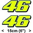 Valentino Rossi Pegatina fluorescente amarillo 46 vinilo adhesivo (2013 / 15cm)