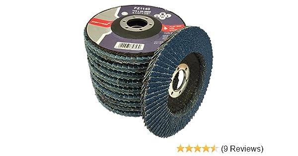 Parweld 115mm Zirconium Flap discs 60 Grit for sanding cleaning stainless /& mild steel PACK OF 5 Medium