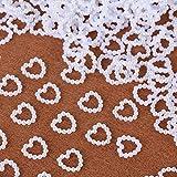 SERWOO 1000 Stück 11 * 11 mm Perlenherzen Tischdeko Perlen Streudeko Perlen Herzen Hochzeitsdeko Tisch Hochzeit Pelren Herzen Weiß für Kunst Handwerk DIY Scrapbooking