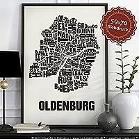 Oldenburg Buchstabenort Schwarz auf Naturweiß