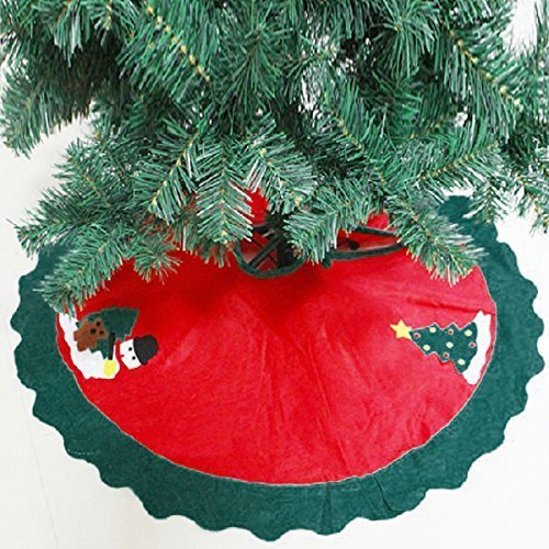 """ZOGIN 90cm 35 """" Falda del Árbol de Navidad / Delantal de Decoracióndel Árbol de Navidad para Fiesta de Navidad - para Decorar la Fiesta de Navidad más Hermoso e Interesante"""