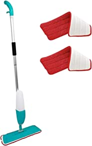 A&H 0.85 L Microfiber Spray Mop with 2 Free Towels, Blue
