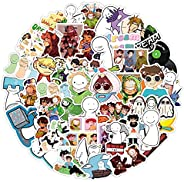 Dream SMP Stickers for Girl Water Bottle, 50pcs Cute Stickers for Teen Travel Case, Laptop, Guitar, Skateboard