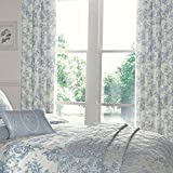"Dreams & Drapes - Malton - Ready Made Lined Pencil Pleat Curtains - 66x72"" (168 x 183cm), Blue"