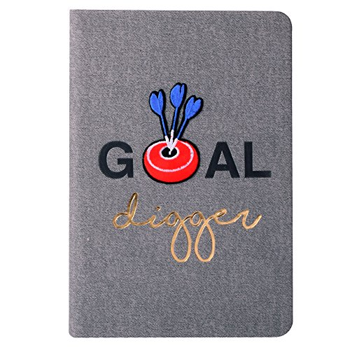 Doodle Iron On Patch Bull's Eye Diary Notebook, PU Leather, Hard Bound, Ruled, 200 Pages, 80 GSM, A5 (8.5