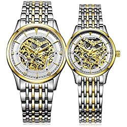 STARKING His and hers Two-Tone Couple Watches # AM0185GS81_AL0185GS81