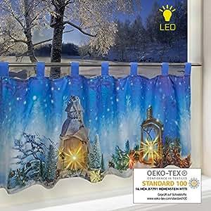 led scheibengardine weihnachts traum f r k che und kinderzimmer beleuchtete. Black Bedroom Furniture Sets. Home Design Ideas