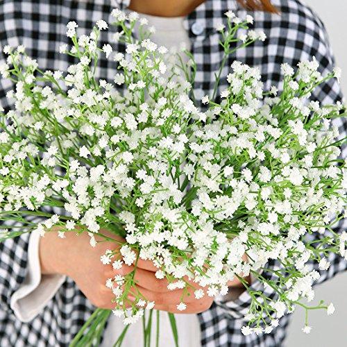 Luyue 6 Stücke Künstliche Gefälschte Gypsophila Blume Gefälschte Rose Hochzeit Bouquet Home Decor (Stil 4)