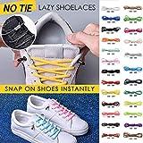 No Tie Shoelaces Rundsenkel für Erwachsene,Binggong Elastische Silikon Schnürsenkel flach Schleifenlose Schuhbänder ohne Binden für Sneaker Stiefel Brettschuhe und Freizeitschuhe
