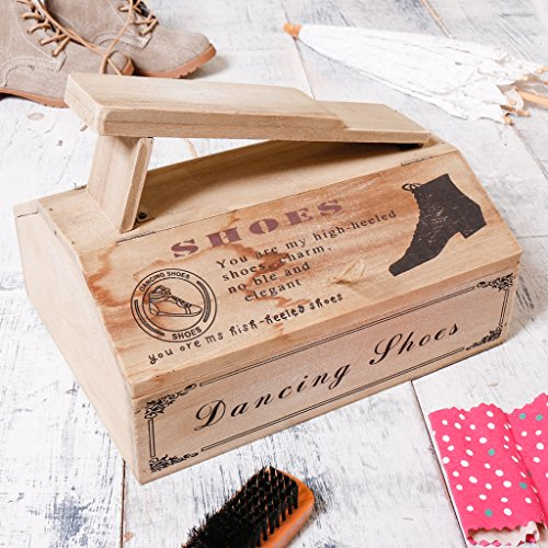 Dibor - French Style Accessories for the Home Holz Schuh Reinigung Store W30x D33x 17 (Polnische Holz-möbel)