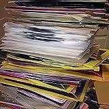 Restposten mit 25.4x17.8cm Vinyl Single Records Christmas Zufällige Mischung