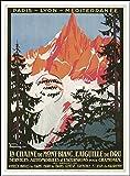 Herbé TM Poster/Reproduction 30x42cm d'1 Affiche Vintage/Ancienne Ski L'AIGUILLE du DRU/RéTRO...