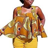 Chemisiers Imprimés Africains GreatestPAK Femmes sans Manches sans Bretelles Blouse T-Shirt Sexy