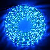 LED Lichtschlauch Lichterschlauch Licht Leiste Schlauch Lichterkette Außen Innen 4 Farben 10 Meter (Blau)