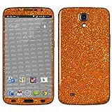 atFolix Samsung Galaxy Mega 6.3 (GT-i9205) Skin FX-Glitter-Orange-Juice Designfolie Sticker - Reflektierende Glitzerfolie