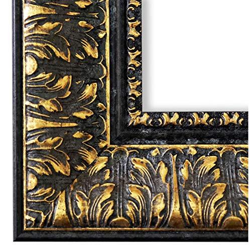 Online Galerie Bingold Bilderrahmen Schwarz Gold 50x70-50 x 70 cm - Modern, Retro, Vintage, Shabby - Alle Größen - handgefertigt in Deutschland - LR - Ancona 7,5