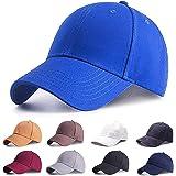 Etyepoh Baseball Cap Polo Style Classic 6 Panel Adjustable Sport Solid Sun Hat Unisex