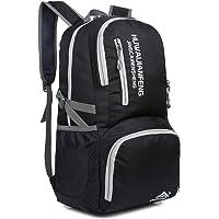Crenze 35L Lightweight Foldable Backpack Travel Hiking Daypack, Men Women Durable Handy Waterproof Rucksack for Camping…