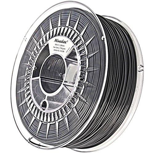 Minadax 0,75kg haute qualité pour 3mm (2,85mm) ASA-Filament Gris acier x pour Imprimante 3D fabriqué en Europe