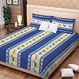 Bright Cotton Double Bed Sheet Cotton Ab...