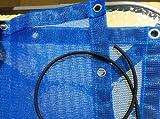 Keinen Schimmel in der Kiste! Sandkastenplane inkl. Gummiseil und Metallösen, Größe: 1,70m x 1,70m, Farbe: blau, randverstärkt, luft- und wasserdurchlässig!