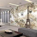 Mural PapelPintado TelaNoTejidafondo De Tv Mural En La Pared Papel Tapiz 3D Moda Torre De París Fondos De Pantalla En 3D Para Las Paredes Tv Fondo Sala De Estar Dormitorio, 200 * 140 Cm