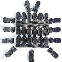 Variety Zone's MIRA Original Super Strong Grip Cloth Drying Pins/Pegs/Clip, Matt Black Premium Plastic Pegs Pack of (24)