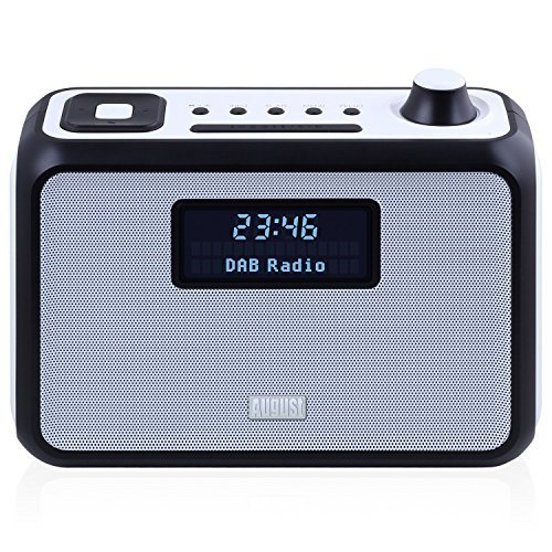 DAB+ Clock Radio Bluetooth Speaker - August MB400 - Wake to your Favourite DAB, FM or MP3 Music - Portable Stereo Powered by C Cells (not included) or Mains Plug