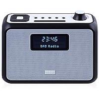 Radio FM / DAB+ Portable avec Haut-Parleur Stéréo Bluetooth NFC - August MB400 – Réveil Double Alarme – Enceinte Lecteur MP3 : Port USB / Lecteur Carte SD / Prise Auxiliaire 3,5mm – Noir