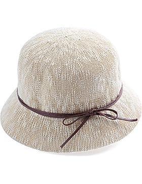 LVLIDAN Sombrero para el sol del verano Lady Anti-sol Sombrero pescador beige