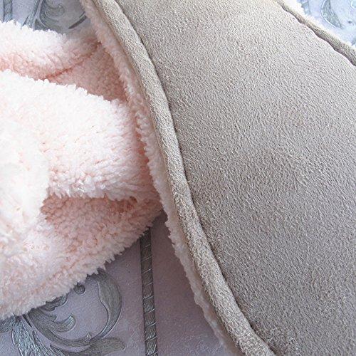 Eastlion Frauen und Mädchen Home Boden weichen bequemen Verschleiß Indoor Anti-Rutsch Baumwolle Bogen Hausschuhe Schuhe,Einheitsgröße Weiß